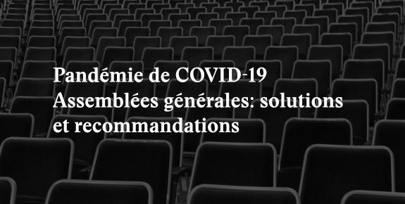 covid-19 assemblée générale